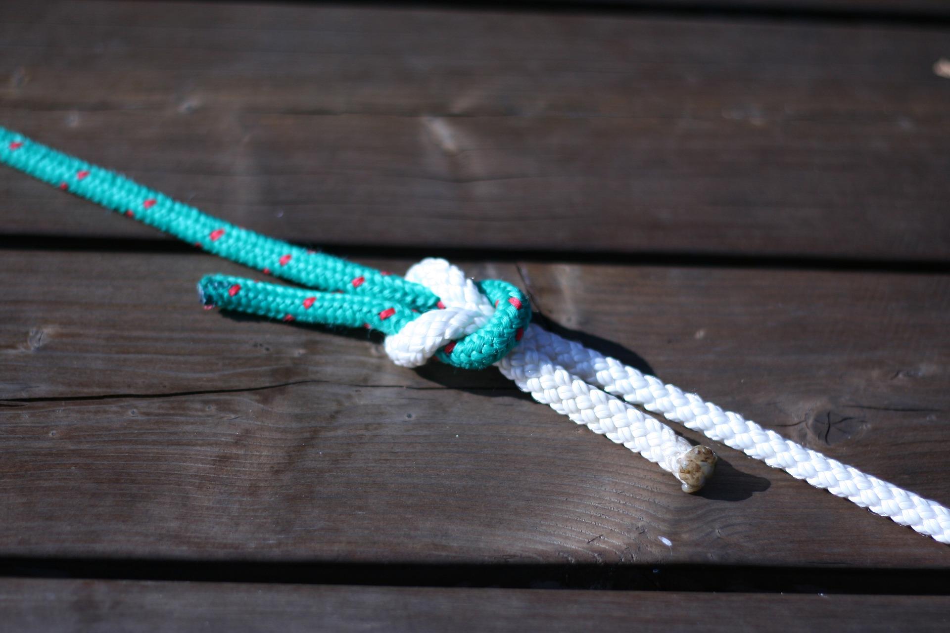 Knoten der Angelscheinprüfung